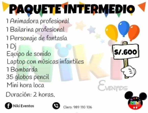 Show  Infantil paquete INTERMEDIO