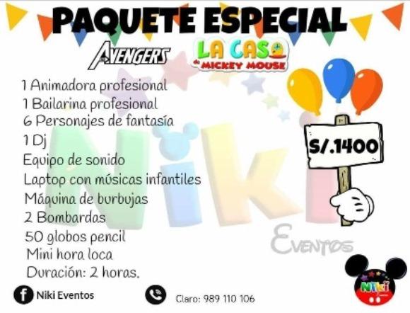 Show  Infantil paquete ESPECIAL